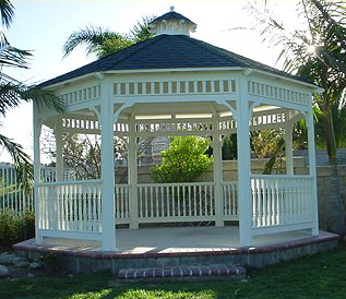 This 14′ Custom Malibu Gazebo comes complete with Lifetime warranty roof.