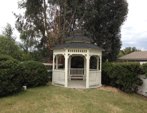 12′ Newport Style Gazebo. This beauty also comes with a 30 year warranty on the roof.